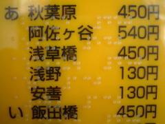 点字運賃表の一部