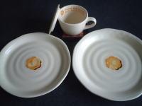 ポン・デ・ライオンの大皿&カフェオレカップ