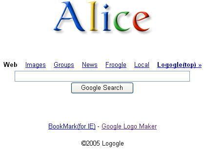 こちらはGoogle英語版トップページ風