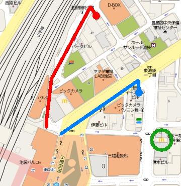 池袋駅前の地図
