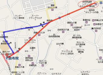 大分→小倉→門司港→小倉→博多→由布院